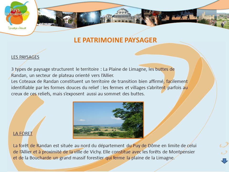 LES PAYSAGES 3 types de paysage structurent le territoire : La Plaine de Limagne, les buttes de Randan, un secteur de plateau orienté vers l'Allier. L