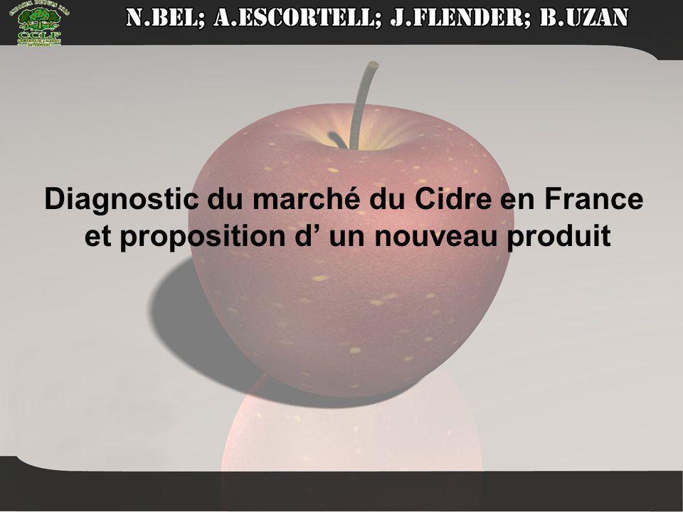 Intro présentation Diagnostic du marché du Cidre en France et proposition d' un nouveau produit