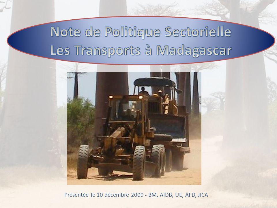 Présentée le 10 décembre 2009 - BM, AfDB, UE, AFD, JICA