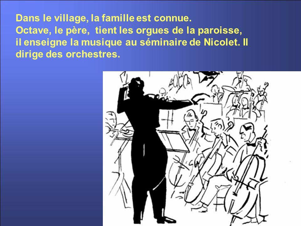 Octave et son épouse Alma ALEXANDRE, avec leurs enfants habitent la vaste maison face à l'église, rue Saint-Jean-Baptiste, en bordure de la rivière Nicolet.