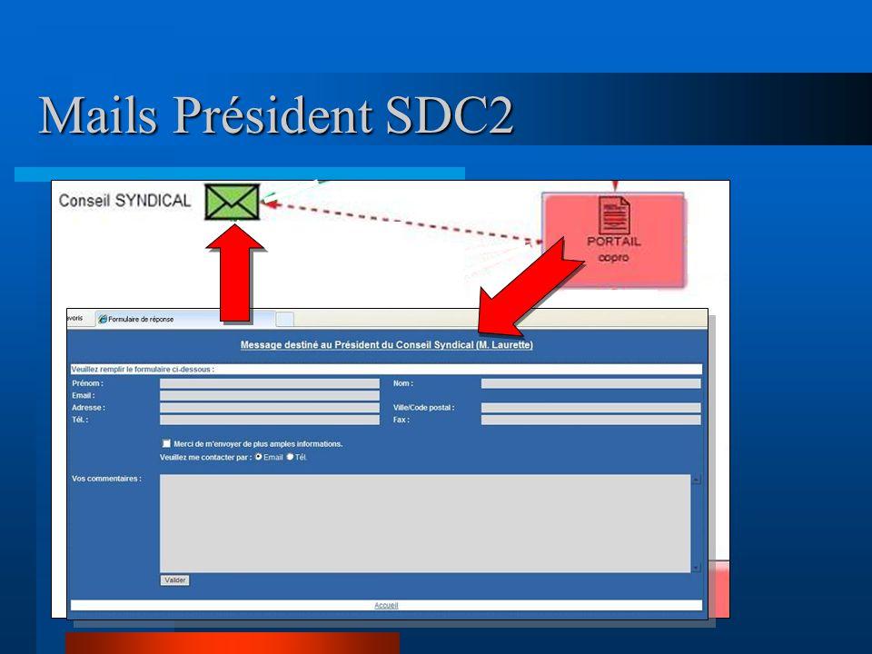 Procédures recommandées  Passer par le site pour envoyer des mails : vous trouverez facilement vos interlocuteurs •Président, Syndic, bureau, Webmaster …  Avantages d'un mail envoyé au Syndic, le président du CS est en copie .