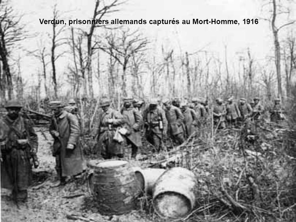 Prisonniers allemands dans le secteur de Vauxaillon, 1917