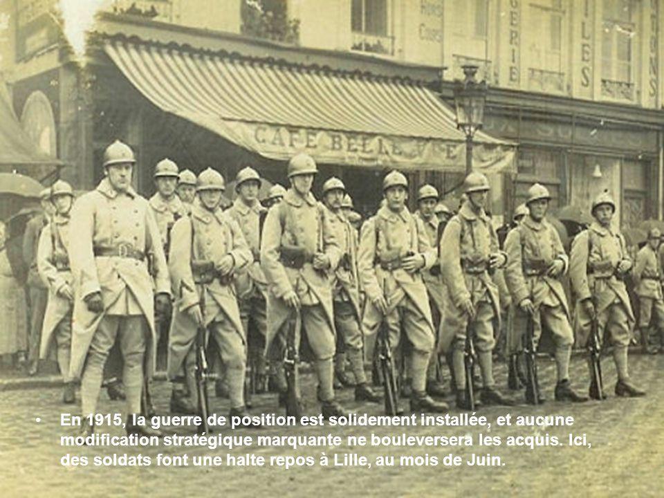 •En 1915, ces brancardiers de Verdun sont essentiellement des