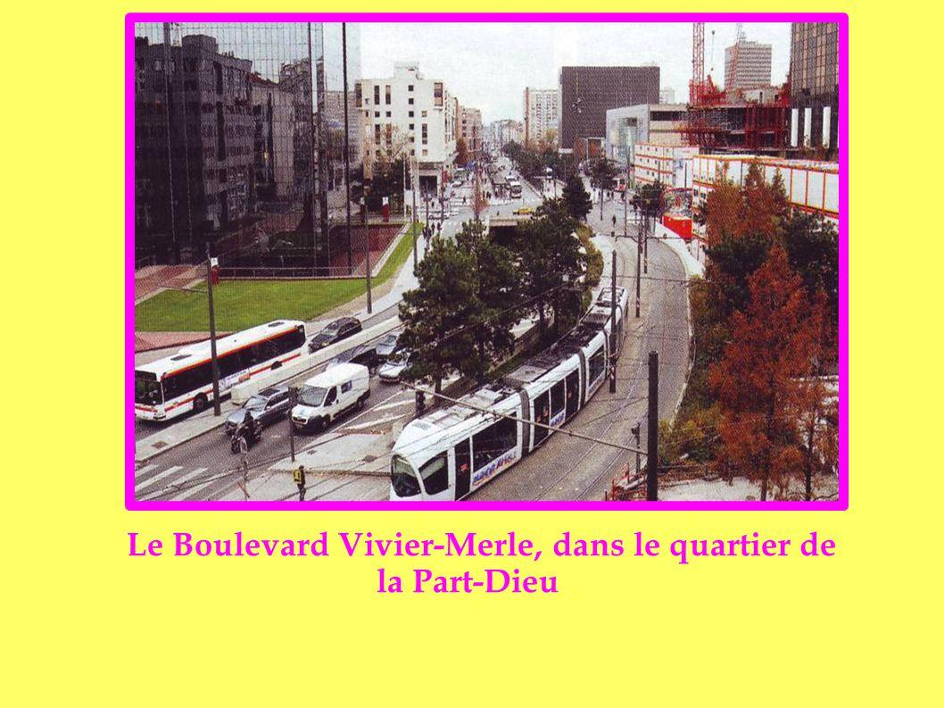 Le Boulevard Vivier-Merle, dans le quartier de la Part-Dieu
