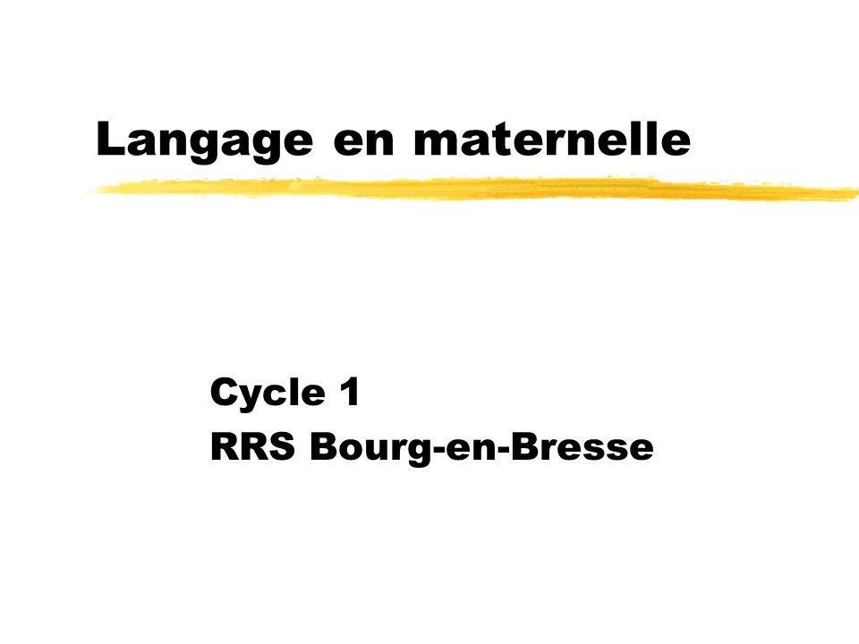 Cycle 1 RRS Bourg-en-Bresse Langage en maternelle