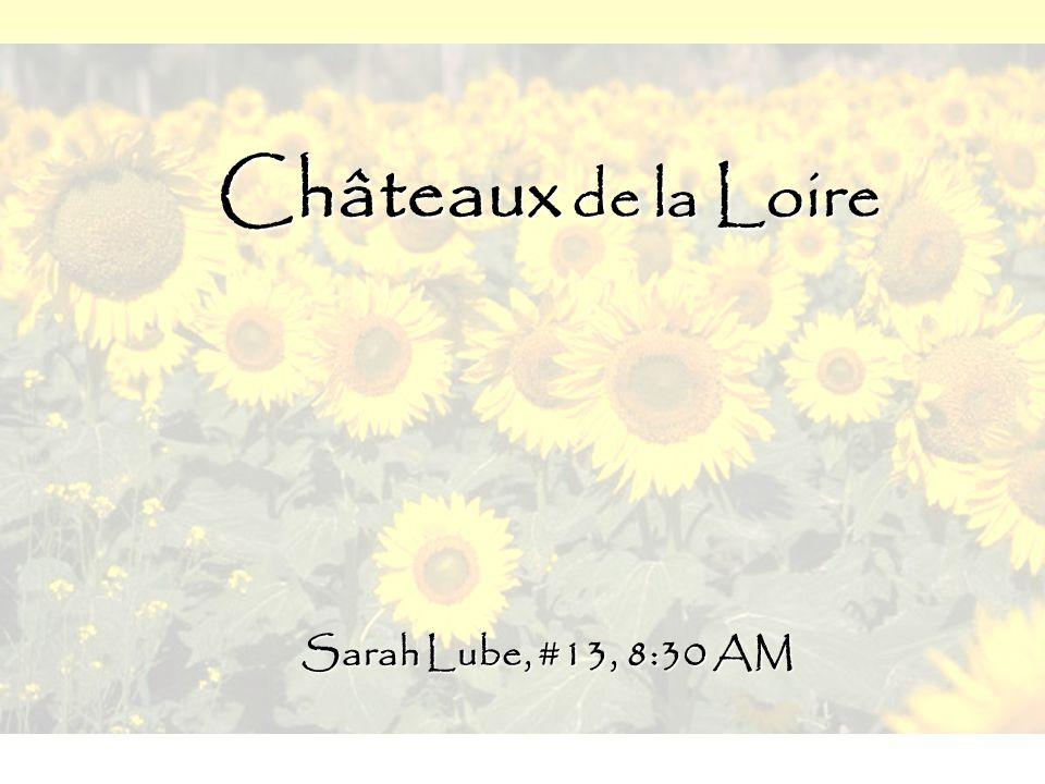 Châteaux de la Loire Sarah Lube, #13, 8:30 AM