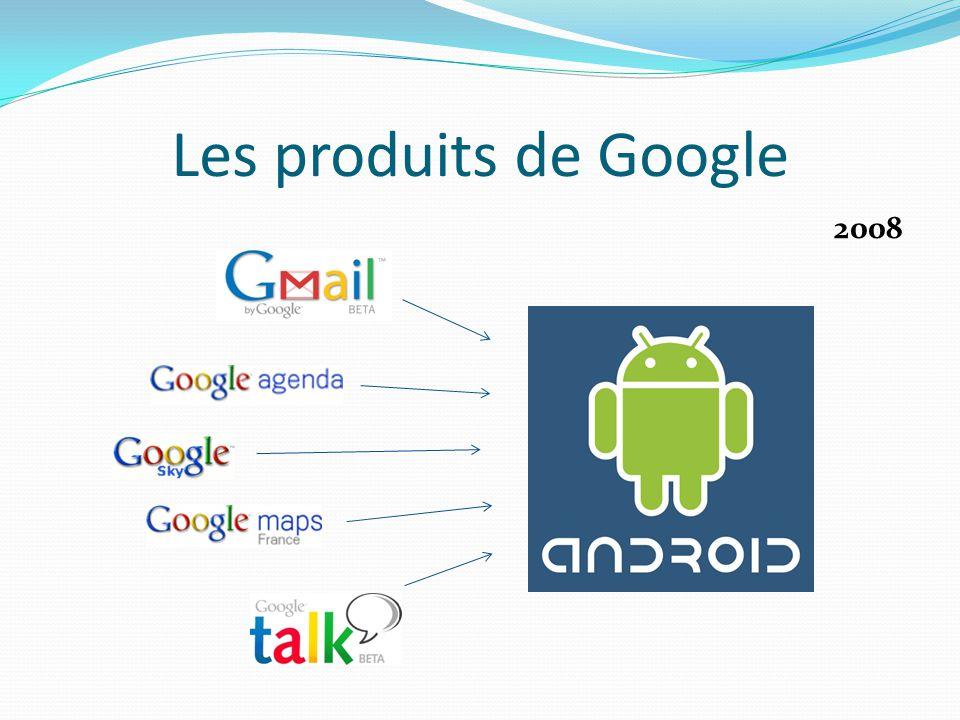 Les produits de Google 2008