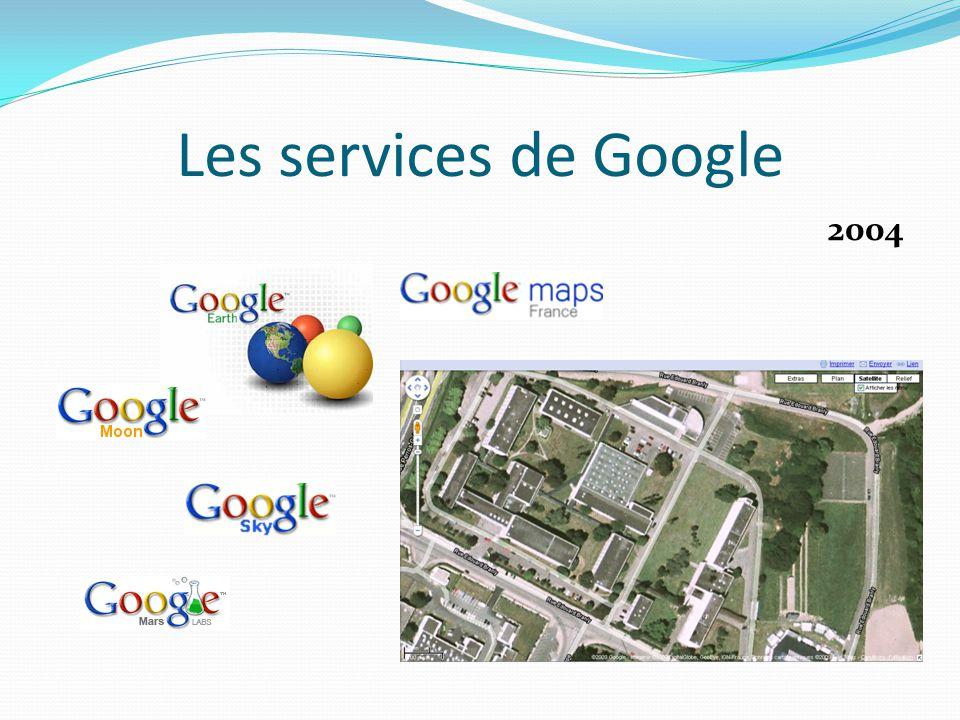 Les services de Google 2005 Concurrent de MSN ?