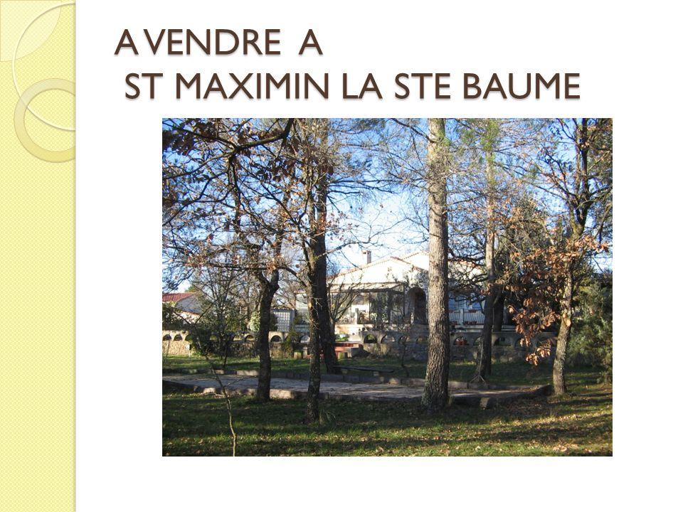 A VENDRE A ST MAXIMIN LA STE BAUME