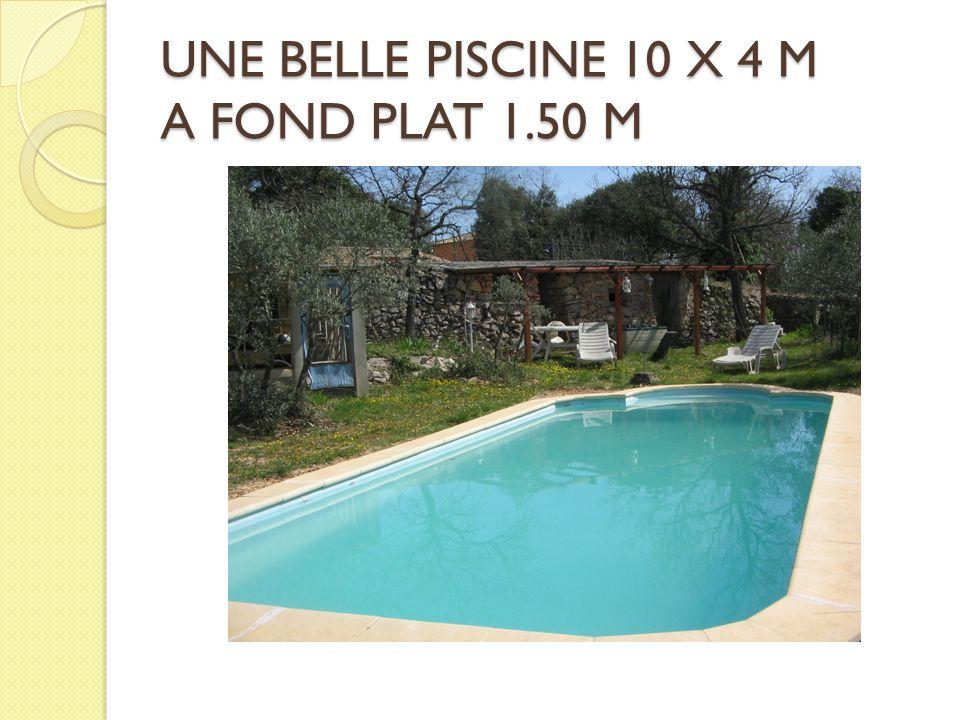 UNE BELLE PISCINE 10 X 4 M A FOND PLAT 1.50 M