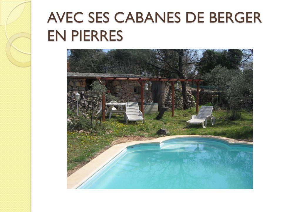 AVEC SES CABANES DE BERGER EN PIERRES