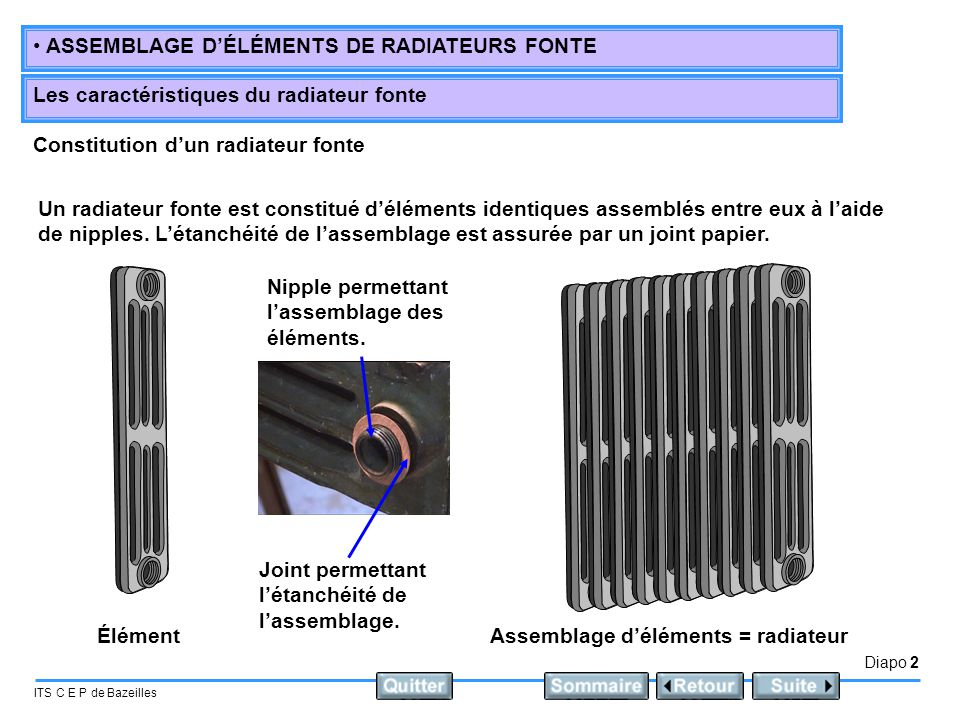 radiateur fonte elements