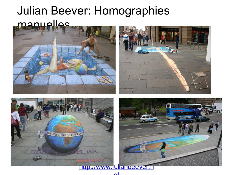 Julian Beever: Homographies manuelles http://www.julianbeever.n et