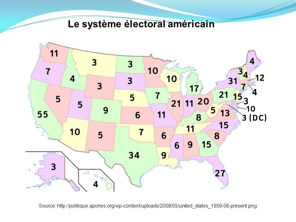 Source: http://politique.apories.org/wp-content/uploads/2008/05/united_states_1959-08-present.png Le système électoral américain