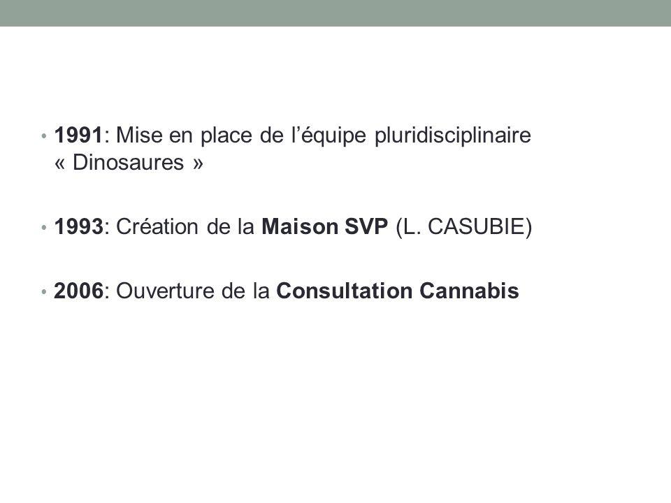 • 1991: Mise en place de l'équipe pluridisciplinaire « Dinosaures » • 1993: Création de la Maison SVP (L. CASUBIE) • 2006: Ouverture de la Consultatio