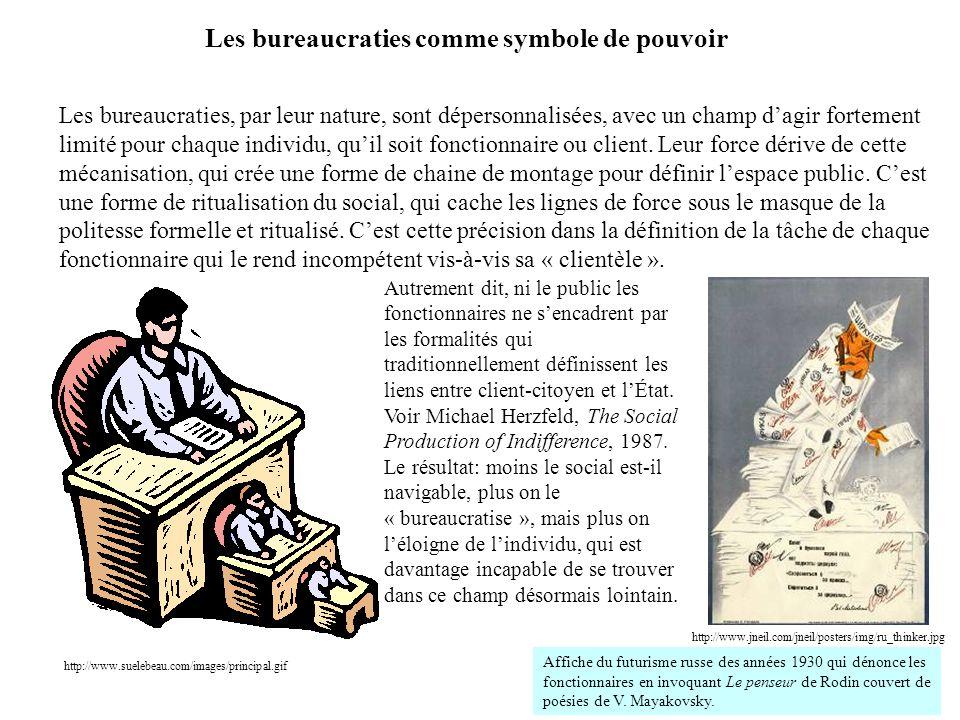 http://www.suelebeau.com/images/principal.gif Les bureaucraties, par leur nature, sont dépersonnalisées, avec un champ d'agir fortement limité pour ch