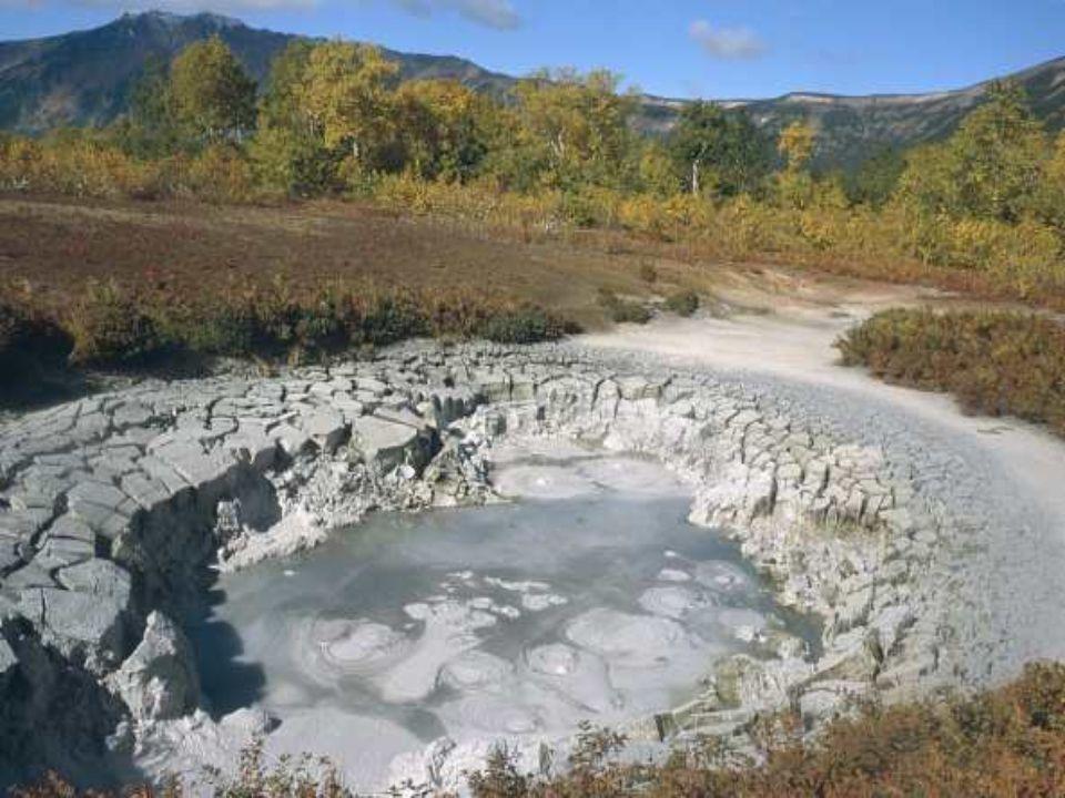 Le fond de cet immense cratère effondré ou caldera, protégé de la réserve naturelle de Krokotski en Russie est tapissé d'une végétation rare qui cache un sol instable.