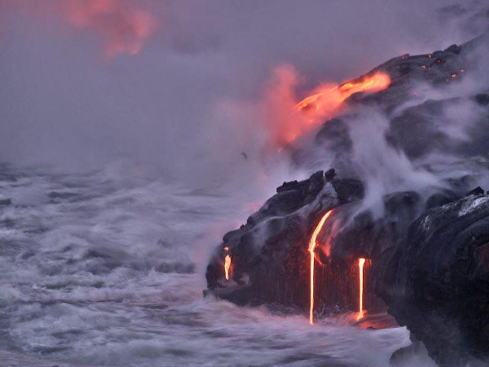 L'archipel d'HawaÏ est le théâtre de phénomènes volcaniques spectaculaires.