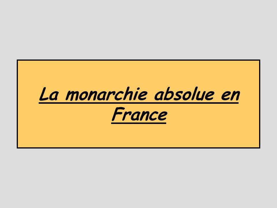 La monarchie absolue en France
