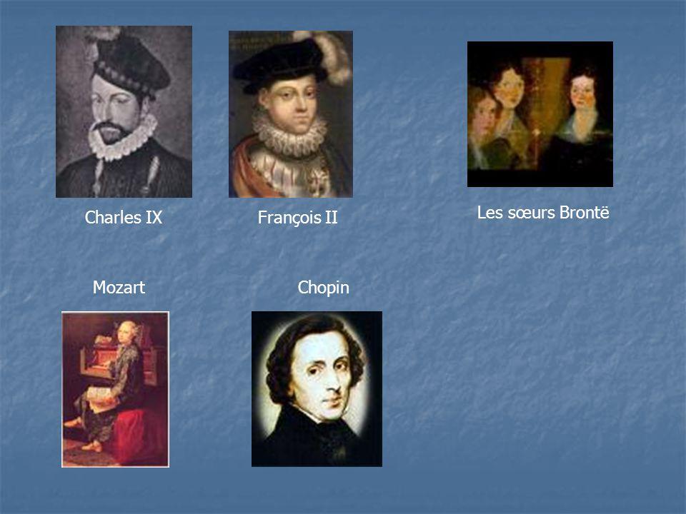 Charles IXFrançois II Les sœurs Brontë MozartChopin