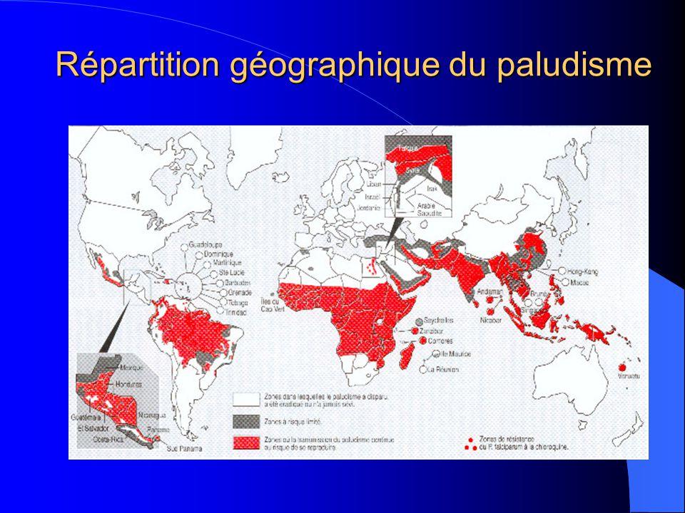 Répartition géographique du paludisme