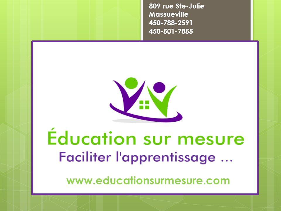 Réactions chimiques www.educationsurmesure.com 809 rue Ste-Julie Massueville 450-788-2591 450-501-7855