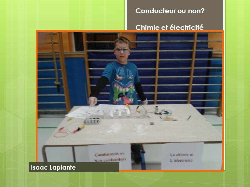 Conducteur ou non? Chimie et électricité Isaac Laplante
