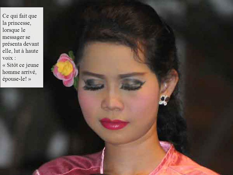 — Laisse cela, moine, dit Rho Thi Sen qui venait de s'éveiller. C'est le message que la reine m'a chargé de remettre sans le lire à sa fille chérie, N