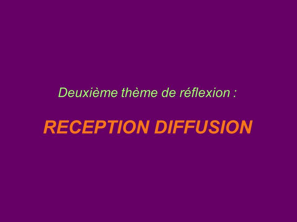 Deuxième thème de réflexion : RECEPTION DIFFUSION
