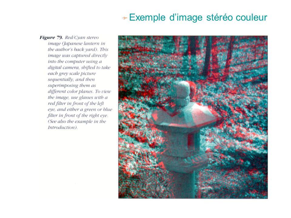 F Exemple d'image stéréo couleur