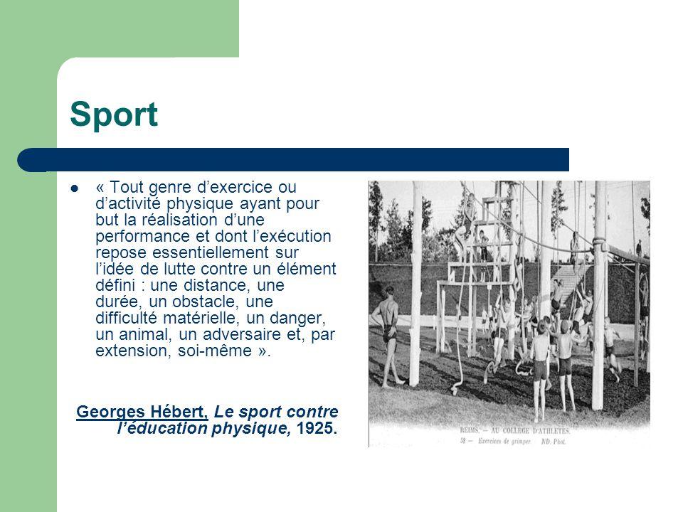 « Tout genre d'exercice ou d'activité physique ayant pour but la réalisation d'une performance et dont l'exécution repose essentiellement sur l'idée