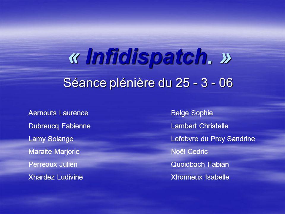 « Infidispatch.