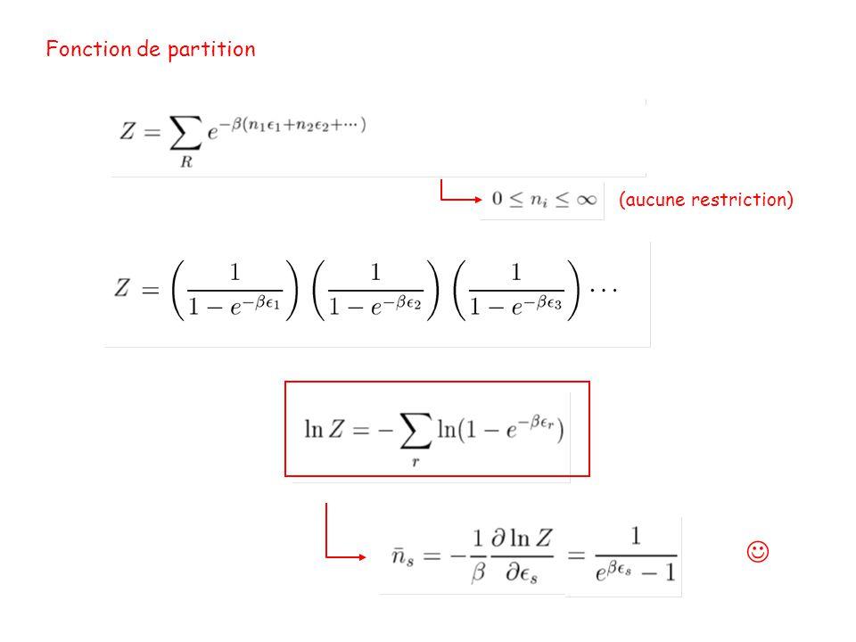 Fonction de partition (aucune restriction) 