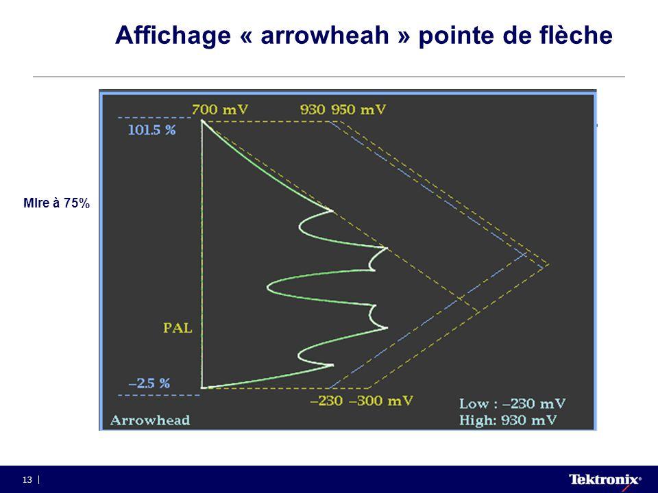 13 Affichage « arrowheah » pointe de flèche MIre à 75%