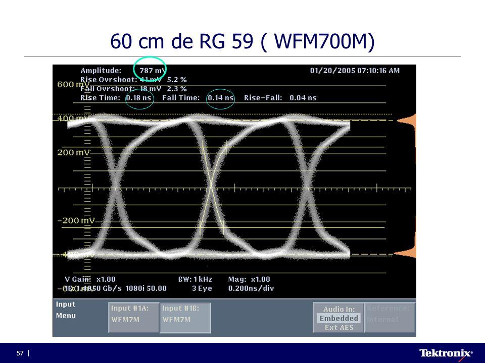 57 60 cm de RG 59 ( WFM700M)