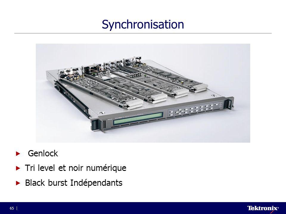 65 Synchronisation  Genlock  Tri level et noir numérique  Black burst Indépendants
