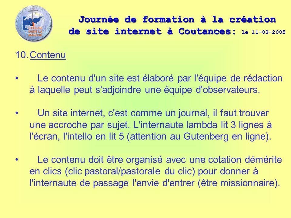 Journée de formation à la création de site internet à Coutances: Journée de formation à la création de site internet à Coutances: le 11-03-2005 10.Con