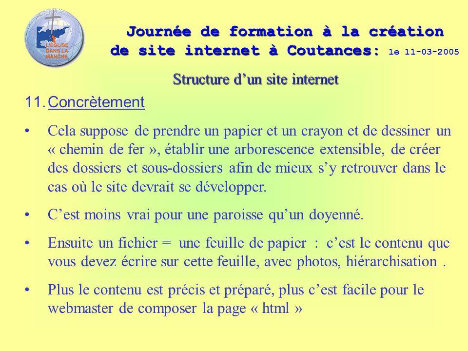 Journée de formation à la création de site internet à Coutances: Journée de formation à la création de site internet à Coutances: le 11-03-2005 11. Co