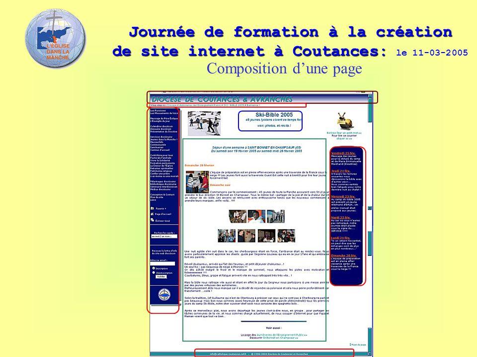 Journée de formation à la création de site internet à Coutances: Journée de formation à la création de site internet à Coutances: le 11-03-2005 Compos