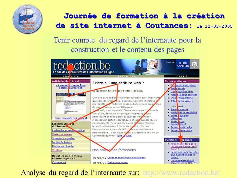 Journée de formation à la création de site internet à Coutances: Journée de formation à la création de site internet à Coutances: le 11-03-2005 Tenir