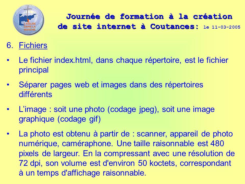 Journée de formation à la création de site internet à Coutances: Journée de formation à la création de site internet à Coutances: le 11-03-2005 6. Fic