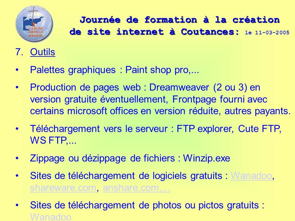 Journée de formation à la création de site internet à Coutances: Journée de formation à la création de site internet à Coutances: le 11-03-2005 7. Out