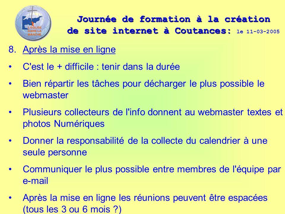 Journée de formation à la création de site internet à Coutances: Journée de formation à la création de site internet à Coutances: le 11-03-2005 8. Apr