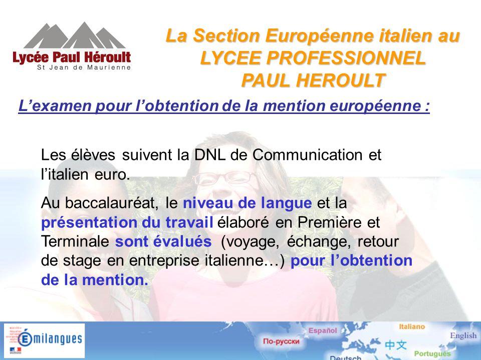 L'examen pour l'obtention de la mention européenne : Les élèves suivent la DNL de Communication et l'italien euro.
