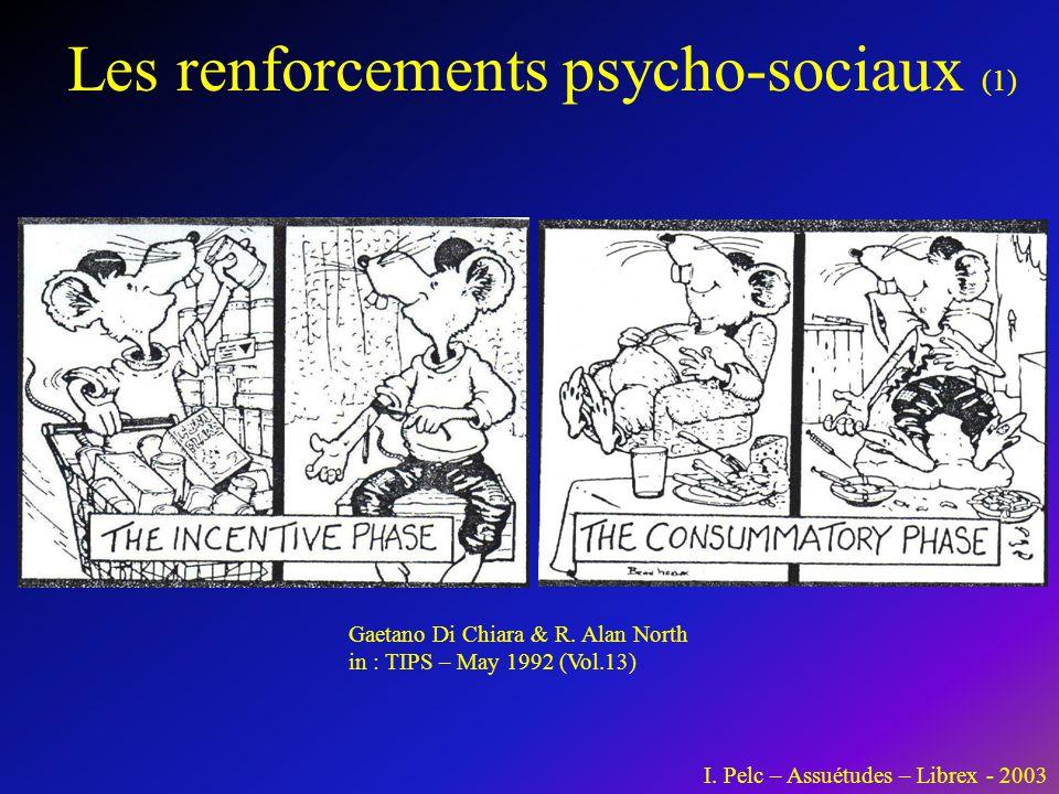 Les renforcements psycho-sociaux (1) Gaetano Di Chiara & R. Alan North in : TIPS – May 1992 (Vol.13) I. Pelc – Assuétudes – Librex - 2003
