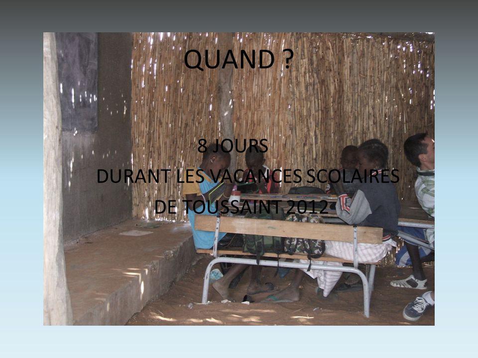 Au programme : • VISITE DE DAKAR. MUSEE DE L'ART AFRICAIN.