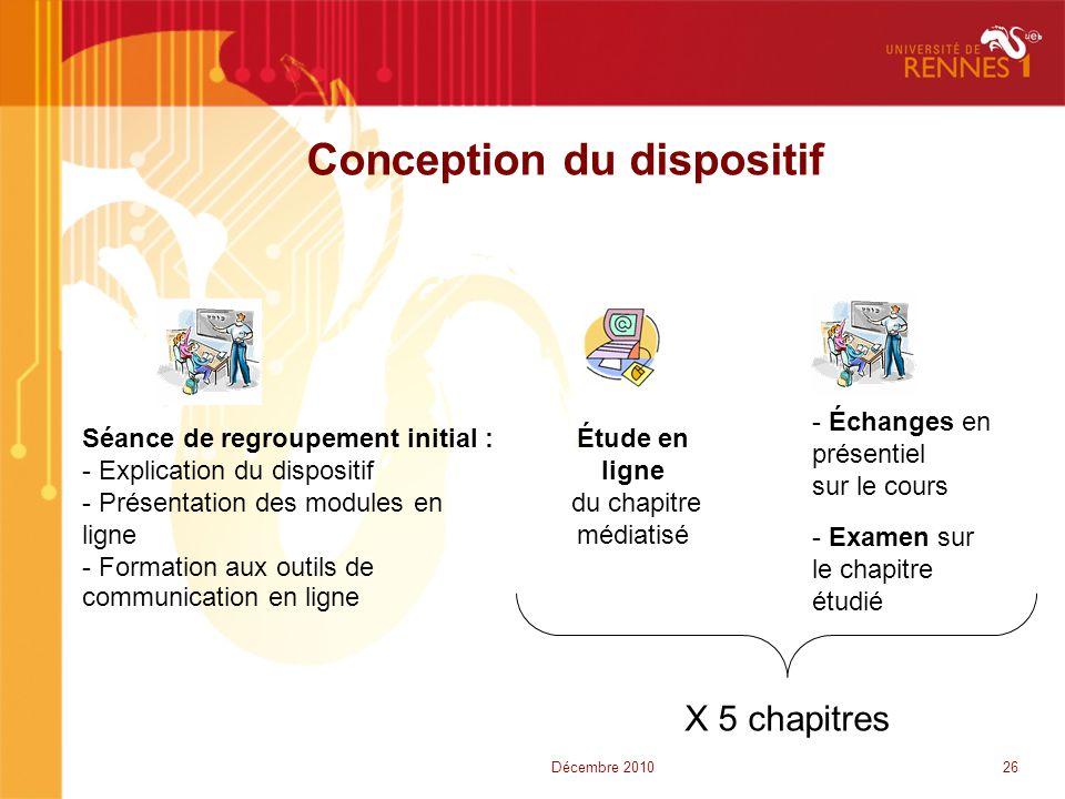 Conception du dispositif Séance de regroupement initial : - Explication du dispositif - Présentation des modules en ligne - Formation aux outils de co