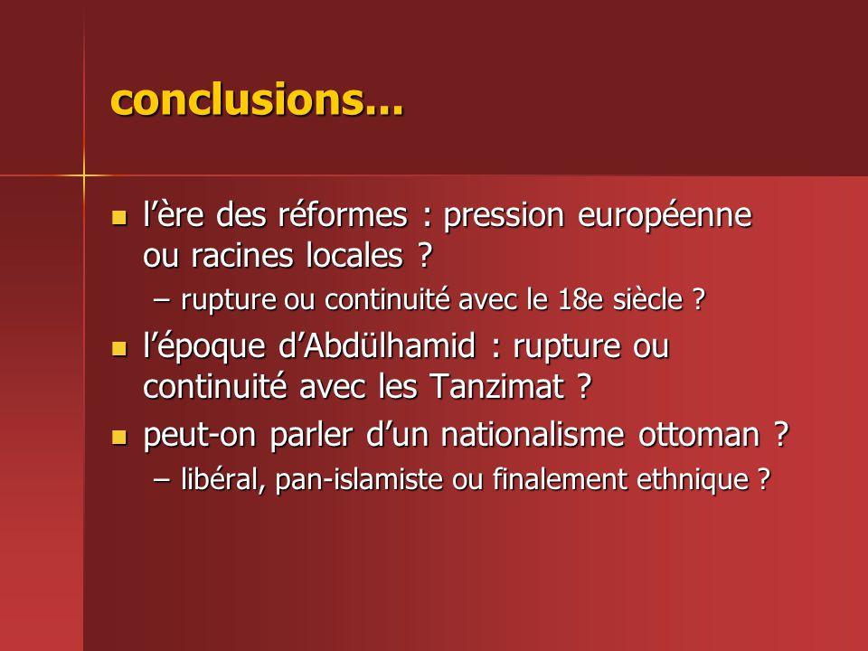 conclusions... l'ère des réformes : pression européenne ou racines locales .