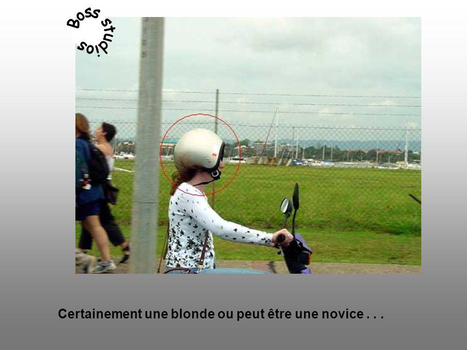 Certainement une blonde ou peut être une novice...