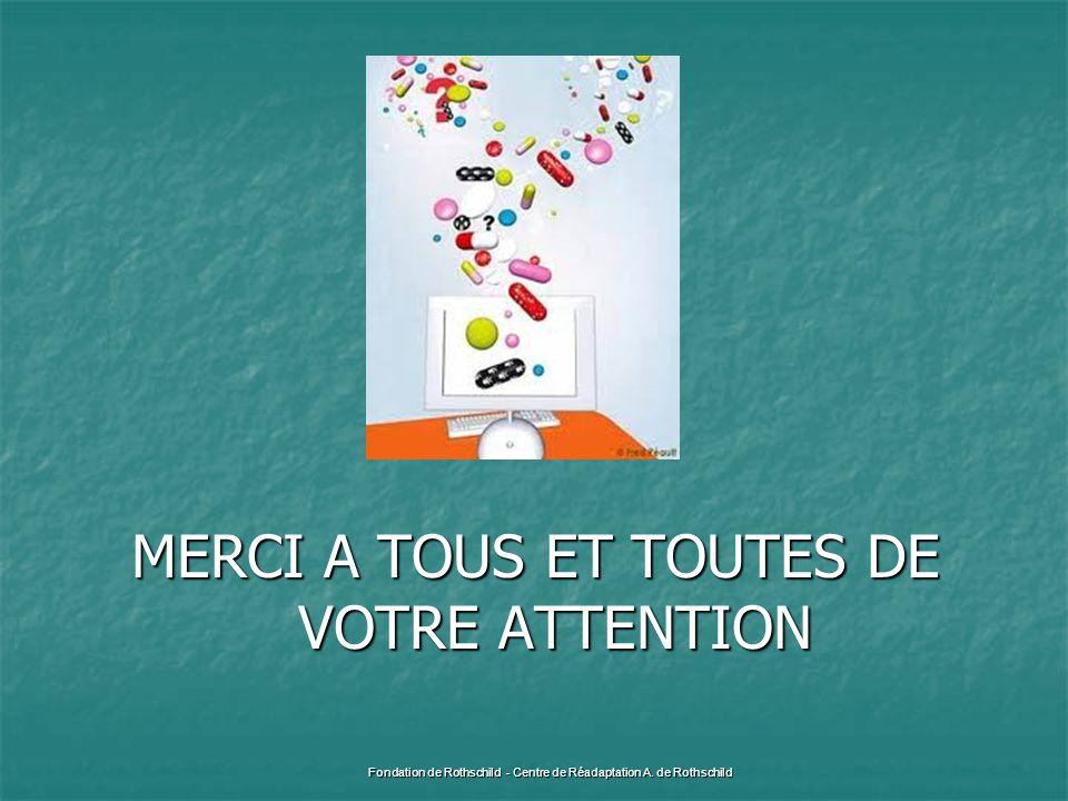 MERCI A TOUS ET TOUTES DE VOTRE ATTENTION Fondation de Rothschild - Centre de Réadaptation A. de Rothschild